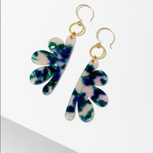 Blue and Green Statement Earrings